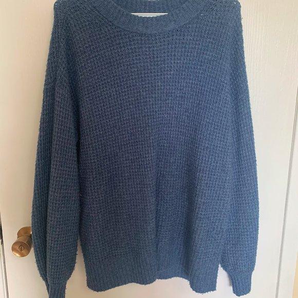 American Eagle, Blue Knit, Medium